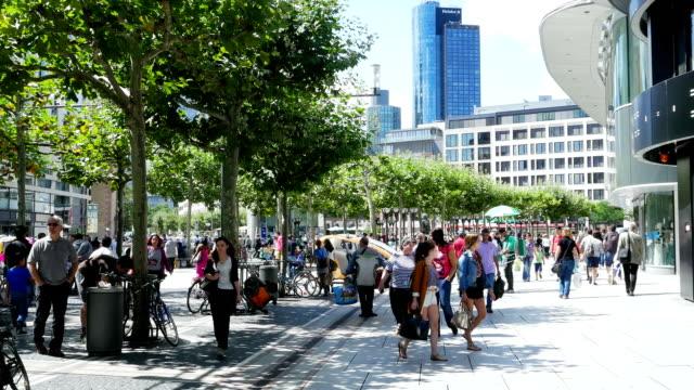 People Walking In Shopping Street (4K/UHD to HD) video
