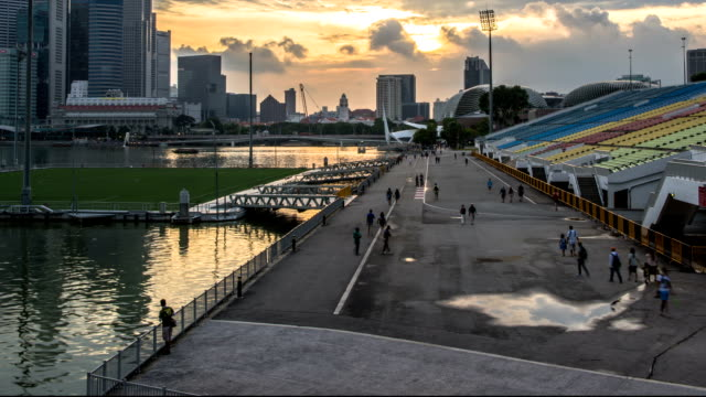 People walking in Singapore video