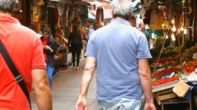 HD: People walking in the bazaar video