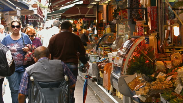 4K: People walking in the bazaar video