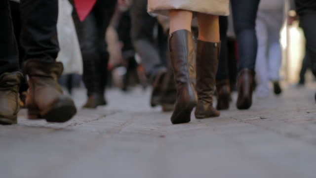 People walking - surface level view video