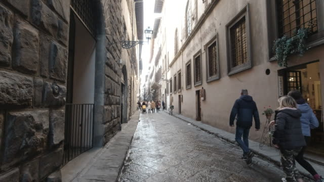 People walking the streets in Florence