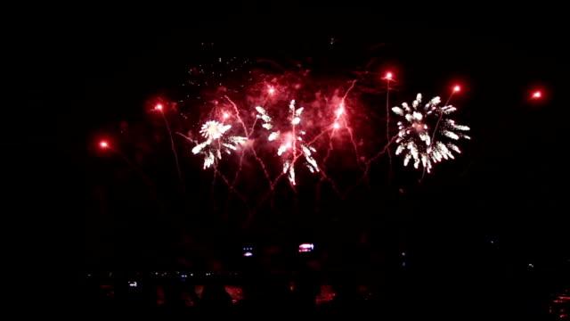 people watching fireworks video