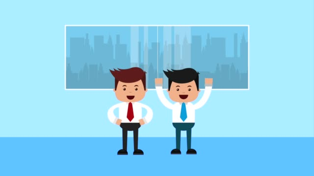 people working process business people in office workspace with window plants and lamps office illustrations videos stock videos & royalty-free footage