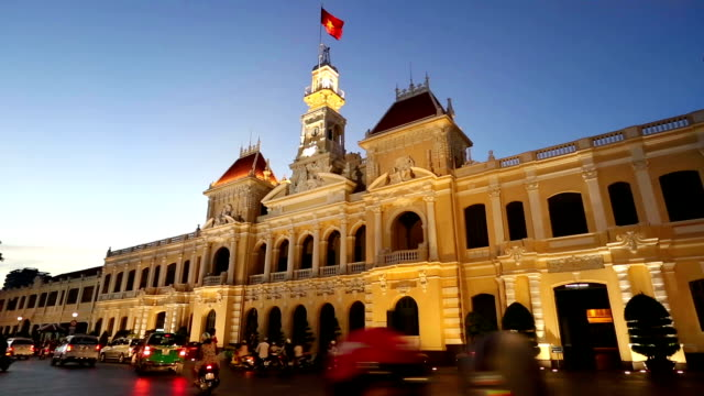 People's Committee Building Ho Chi Minh City Vietnam video