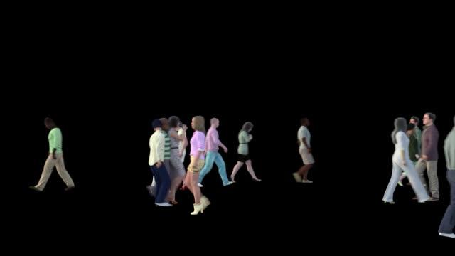 folk gå i rörelseoskärpa - kostym sida bildbanksvideor och videomaterial från bakom kulisserna