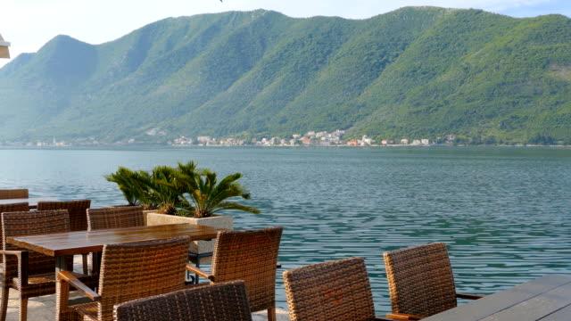 Perast in Montenegro coastline video