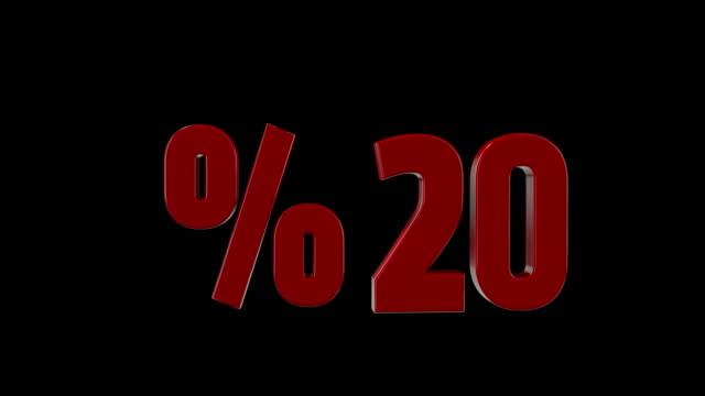 %20 percent discount icon animation video