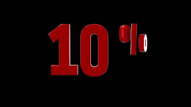 %10 percent off icon animation video