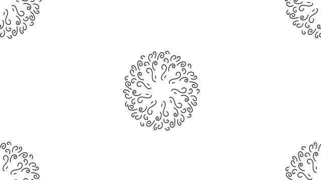 stockvideo's en b-roll-footage met zwarte mandala tunnel animatie. perfecte 4k-overgang of intro voor een tv-programma, nieuws of film. best voor podiumontwerp, catwalk ontwerp of patroon gerelateerde projecten - mandala