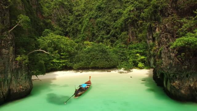 plaży, ko phi phi, krabi, tajlandia le - tajlandia filmów i materiałów b-roll