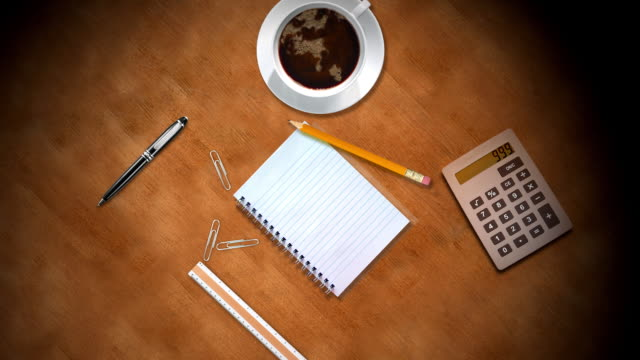 Perfect for titles - animated notebook lists video