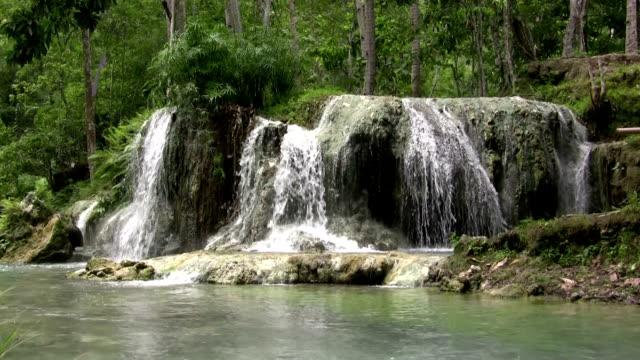 Perfect Loop Majestic Wide Waterfall video