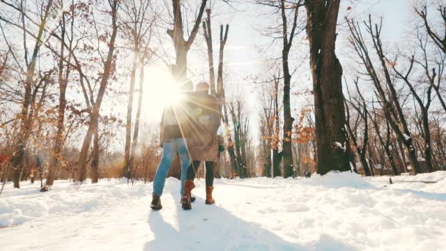 a perfect winter day just for us! - zima filmów i materiałów b-roll