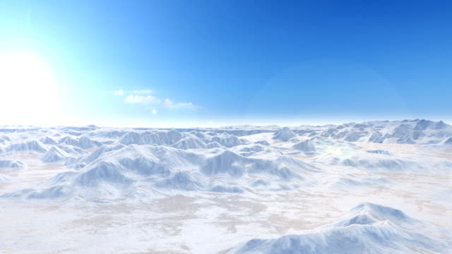 Perfectly Loop Camera flight over snow mountains video