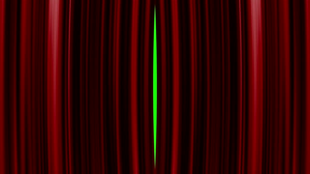 perfectly red curtain opening movement background video