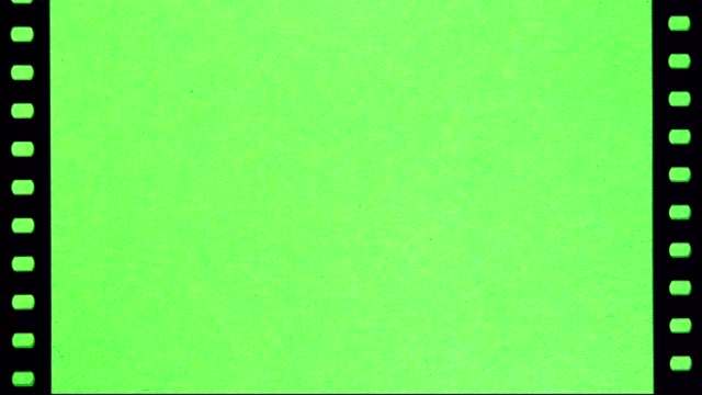 Perforation of Film on Green Screen video
