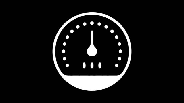 Performance Measurement Line Icon Animation with Alpha