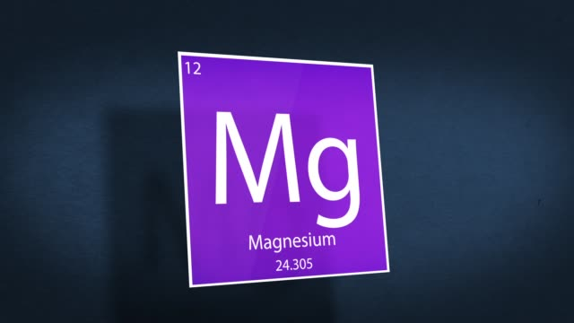 Periodic Table of Elements Cinematic Animated Series - Element Magnesium hovering in space - vídeo