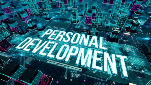 Personal development with digital technology concept