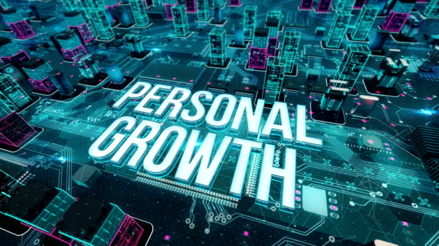 Personal growth with digital technology concept