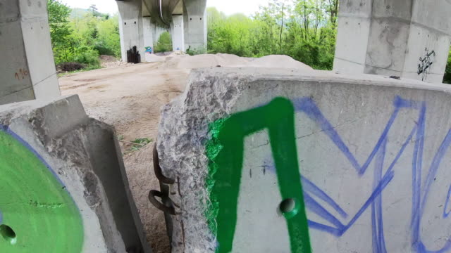 Personal Perspective of  Man Drawing Graffiti