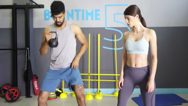 Personal Trainer Helping video