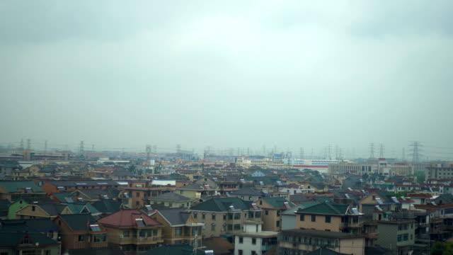 vídeos y material grabado en eventos de stock de perspectiva de un tren - la ciudad de hangzhou, china - villa asentamiento humano