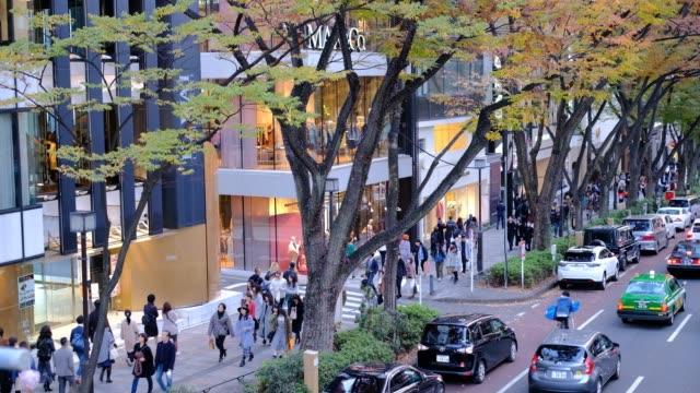 日本における都市生活の展望から見た高い角度から - 建物の正面点の映像素材/bロール