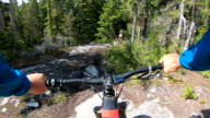 istock POV perspective view of e-biking along mountain trail 1255168035