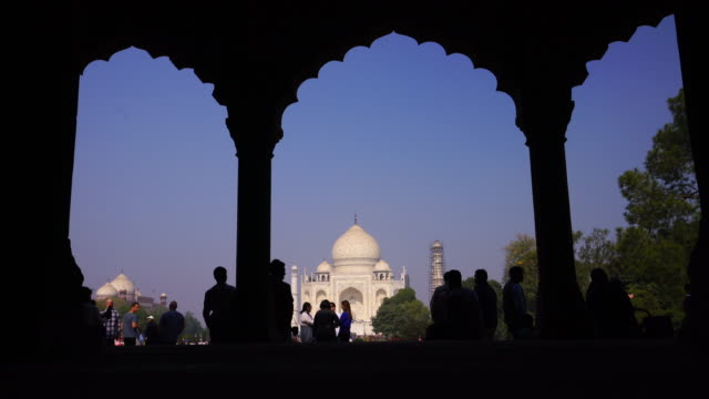 A perspective view on Taj-Mahal in India