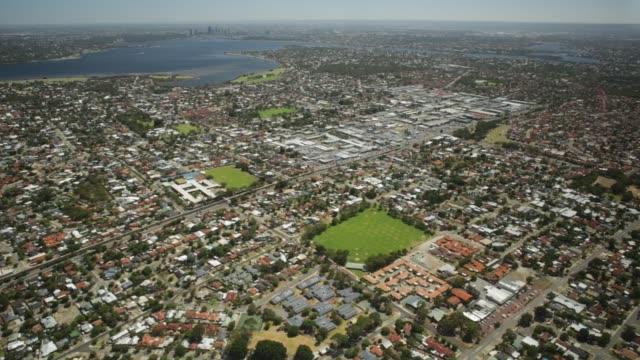 perth aerial view - запад стоковые видео и кадры b-roll
