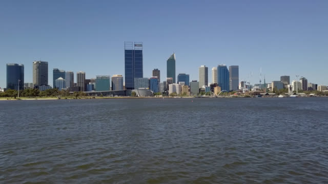 perth cbd and swan river - western australia stock videos & royalty-free footage