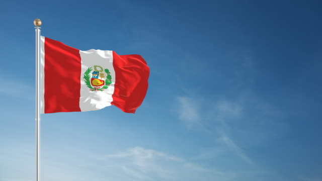 4 K Perú-en bucle bandera - vídeo