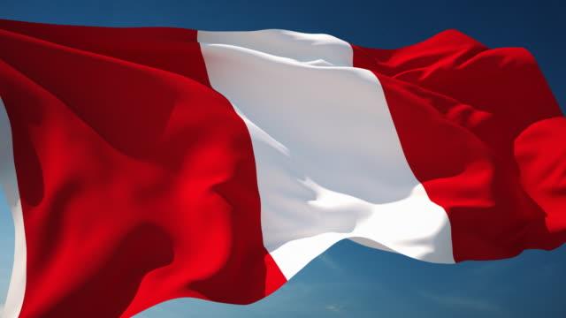 Bandera de Perú - Loopable - vídeo