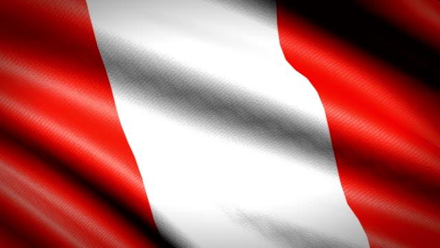 Bandera de Perú. Animación bucle sin fisuras. 4K Video de alta definición - vídeo