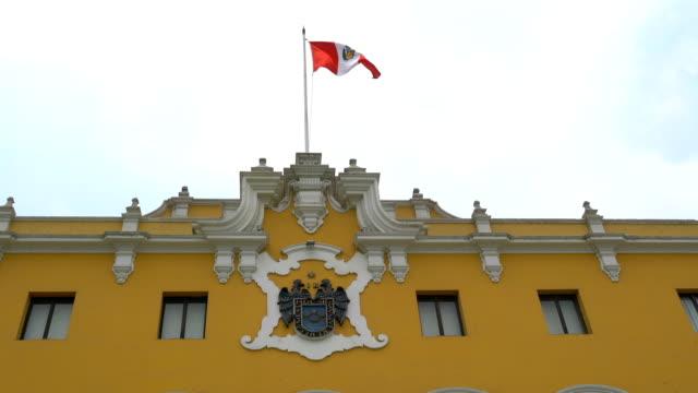 peruanische flagge - lima stock-videos und b-roll-filmmaterial