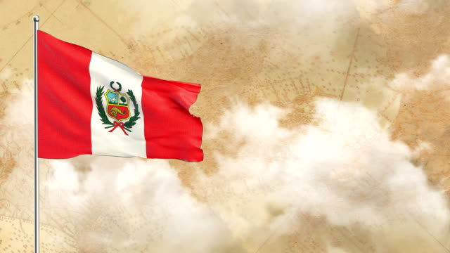 Bandera de Perú - vídeo
