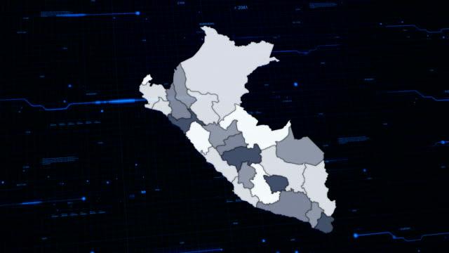 Peru rede mapa - vídeo