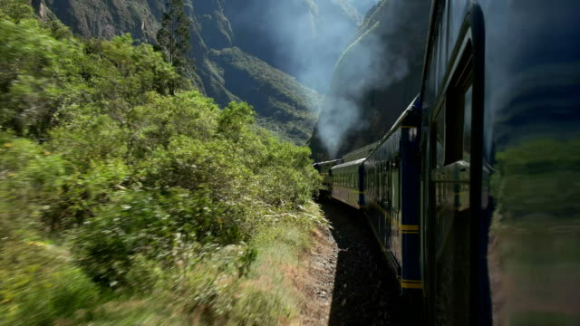 peru rail journey from machu picchu to ollantaytambo - south america travel stock videos and b-roll footage