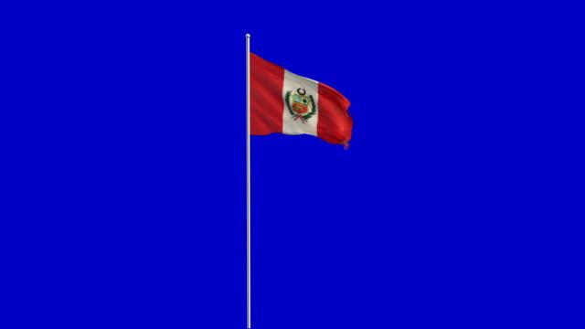 Perú levantamiento de la bandera - vídeo