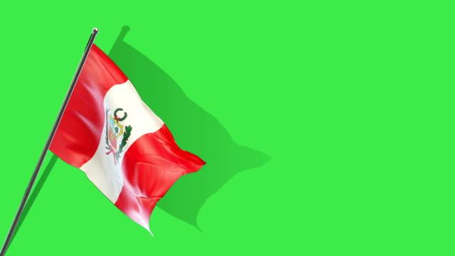 levantamiento de bandera peruana - vídeo