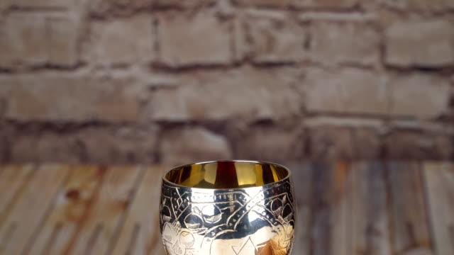 Pesach matzo passover with wine and matzoh jewish passover bread Passover background with matzo video