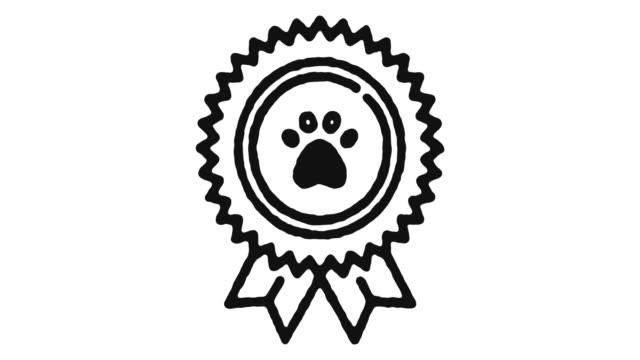 Pet Care Icon Animation Footage & Alpha Channel