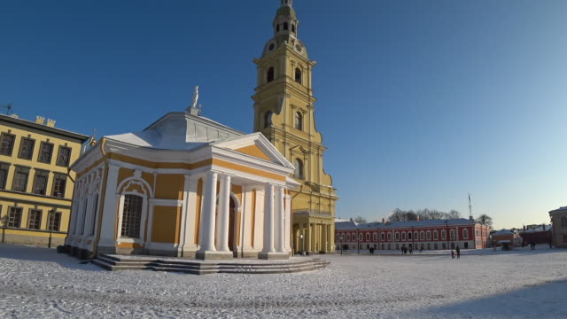Peter and Paul fortress timelapse hyperlapse. Saint-Petersburg, Russia. Timelapse in motion. video