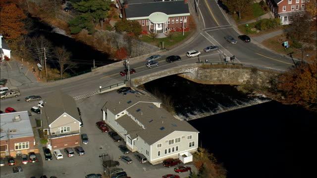 Peterborough  - Aerial View - New Hampshire,  Hillsborough County,  United States video