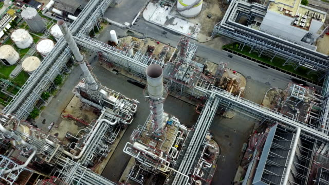 4K Petrochemical plant at day time video