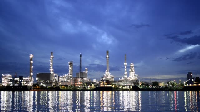 Petrochemical plant, Oil refinery, Industry plant Background
