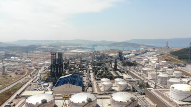 Petrol refinery from above Petrol refinery from above izmir stock videos & royalty-free footage