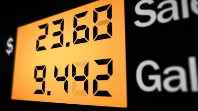 vídeos de stock, filmes e b-roll de bomba de posto de gasolina, vire à direita para - gasolina